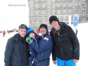 Photo avec Papa , Papiche et Tonton